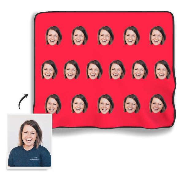 Face Colorful Photo Blanket - PhotoBoxer