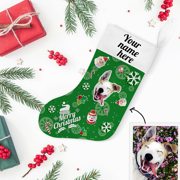My Pet Name & Face Personalized Christmas Stockings - For Man, Woman, Kid