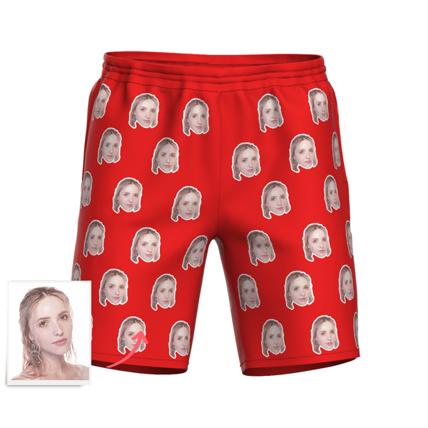 Men's Custom Face Elastic Beach Short Pants