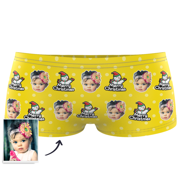 Christmas Snowman Kids Boxer Briefs Printed Face
