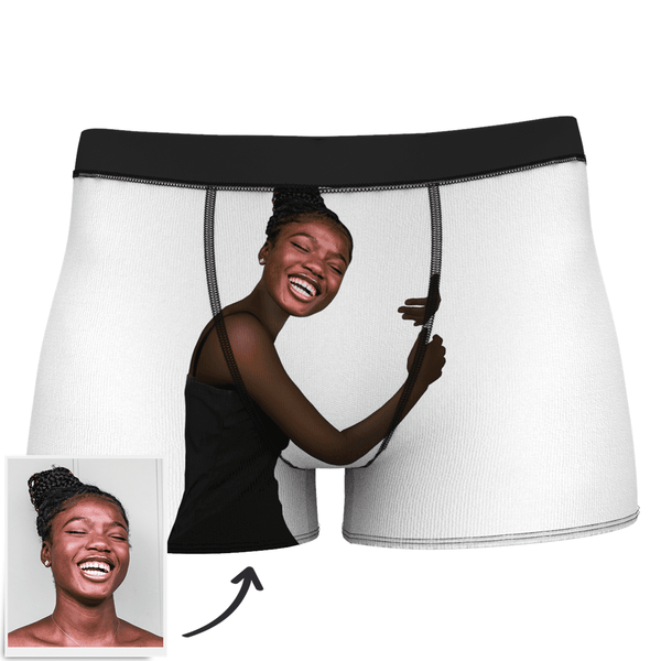 Men's Custom Face On Body Boxer Shorts - Dark Skin