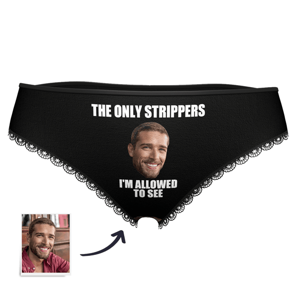 Women's Custom Strippers Face Panties