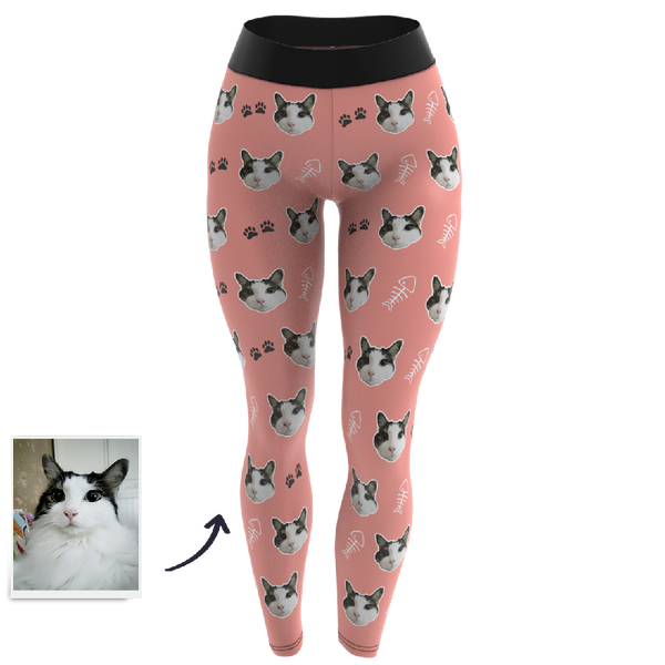 Custom Face Leggings - Cat