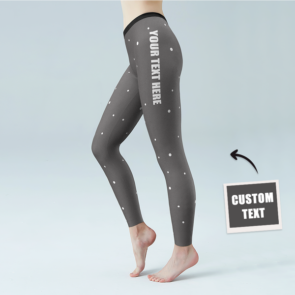 Women's Yoga gym pants Custom leggings Personalized tights with your own text
