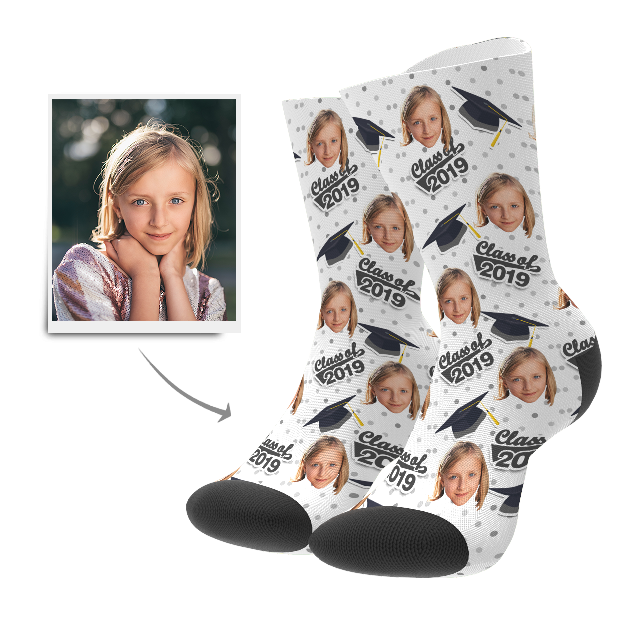 Custom Grad Socks (Dots)