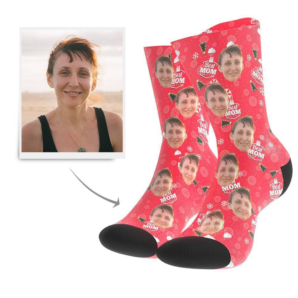 Christmas Gift Custom Face Socks (Mom)