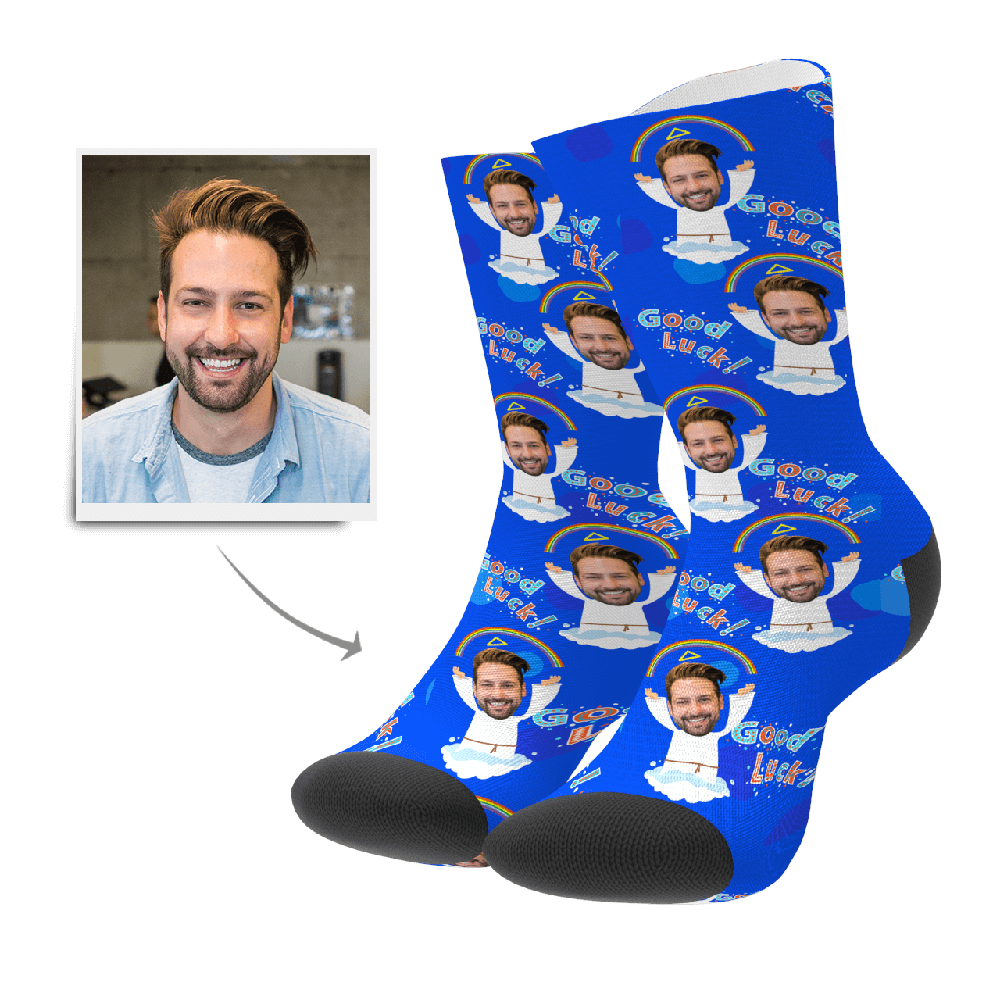 Custom Face Socks - Angle