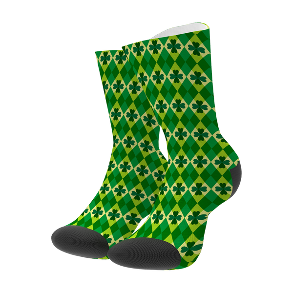 St. Patrick's Day Shamrock Socks