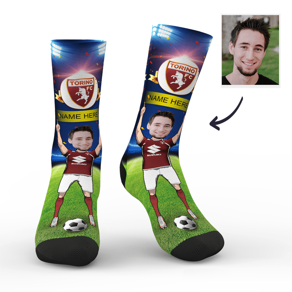 Custom Torino F.C. Super Fans Face Socks | Serie A 2019/20 Season