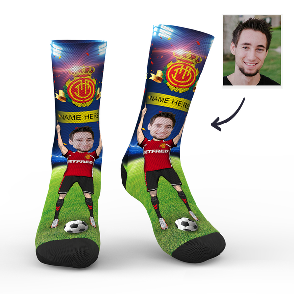 Custom RCD Mallorca Super Fans Face Socks | La Liga 2019/20 Season
