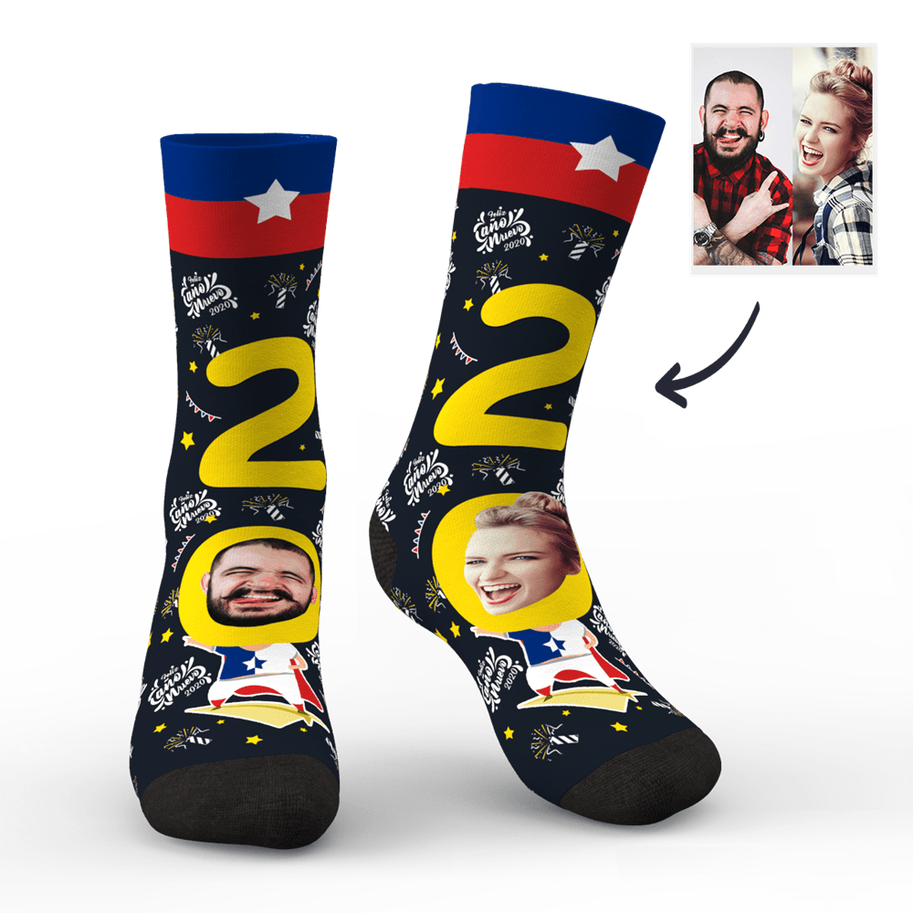 Custom Face Socks for 2020 Chile New Year's Gift