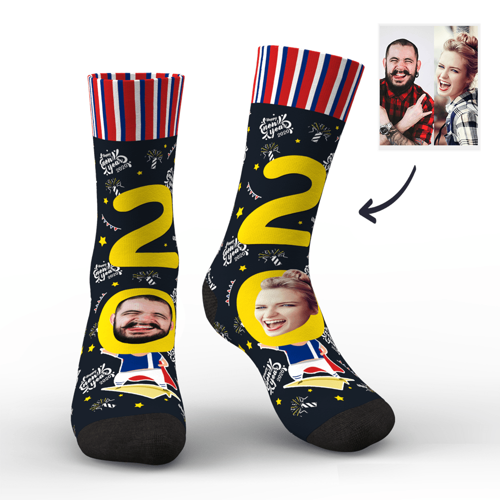 Custom Face Socks for 2020 Norway New Year's Gift