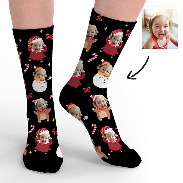 Custom Face Socks Christmas Gifts