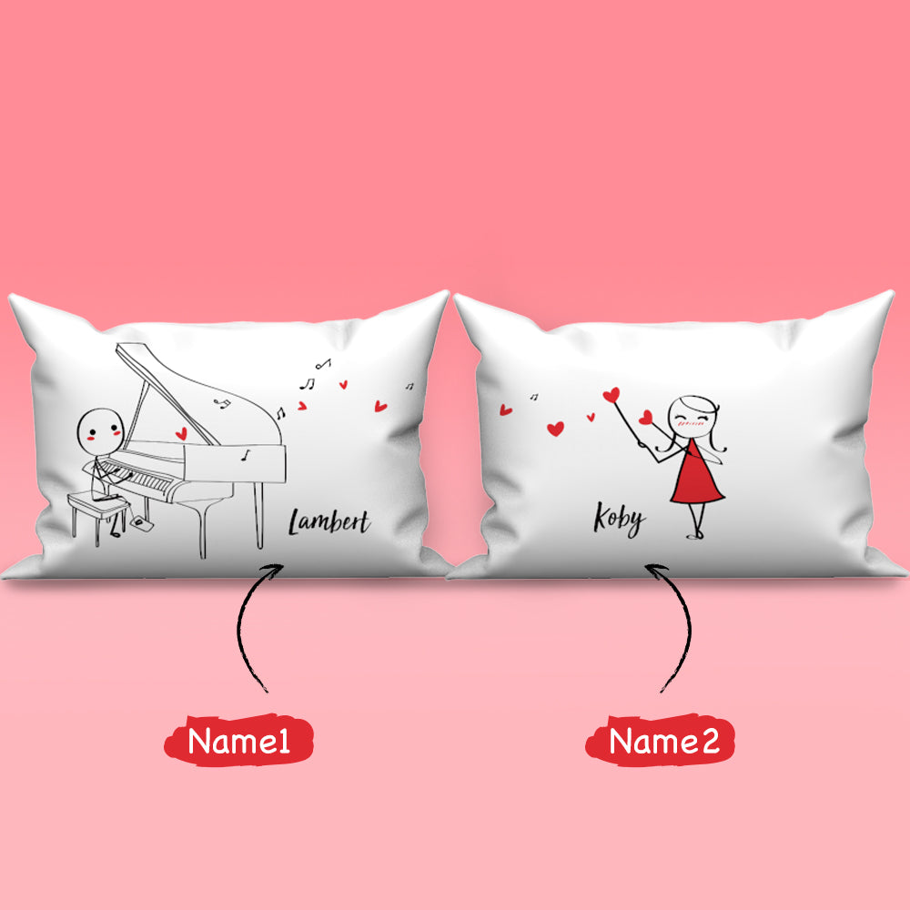 Personalized Name Couple Pillowcase Set