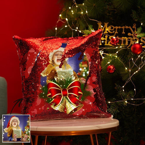 Custom Magic Sequins Pillow Photo Pillowcase | Christmas Gifts