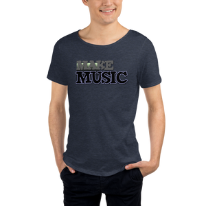 Make Music 9499 Unisex Raw Neck Tee