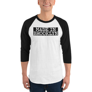 Made In Brooklyn 0825BK Men 3/4 sleeve raglan shirt