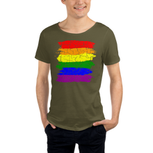 Load image into Gallery viewer, Cracked Pride 626 Unisex Raw Neck Tee