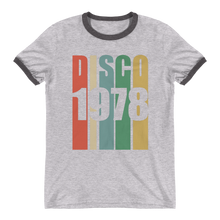 Load image into Gallery viewer, Disco 7070 Unisex Ringer T-Shirt