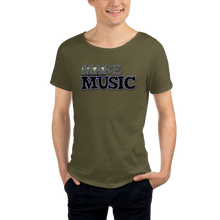 Load image into Gallery viewer, Make Music 9499 Unisex Raw Neck Tee