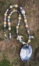 Load image into Gallery viewer, Mineral Necklace - Angelfish Agate with Aragonite and Blue Chalcedony