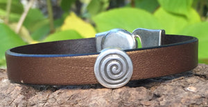 Leather Bracelet - Bronze Bling