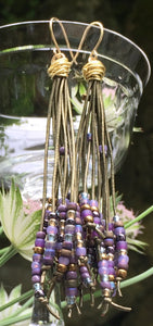 Cattail Earrings - Regal Purple