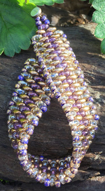 Snakeskin Bracelet - Purple Crystal Twilight