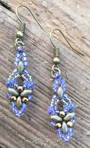 Hummingbird Earrings - Lavender Bronze