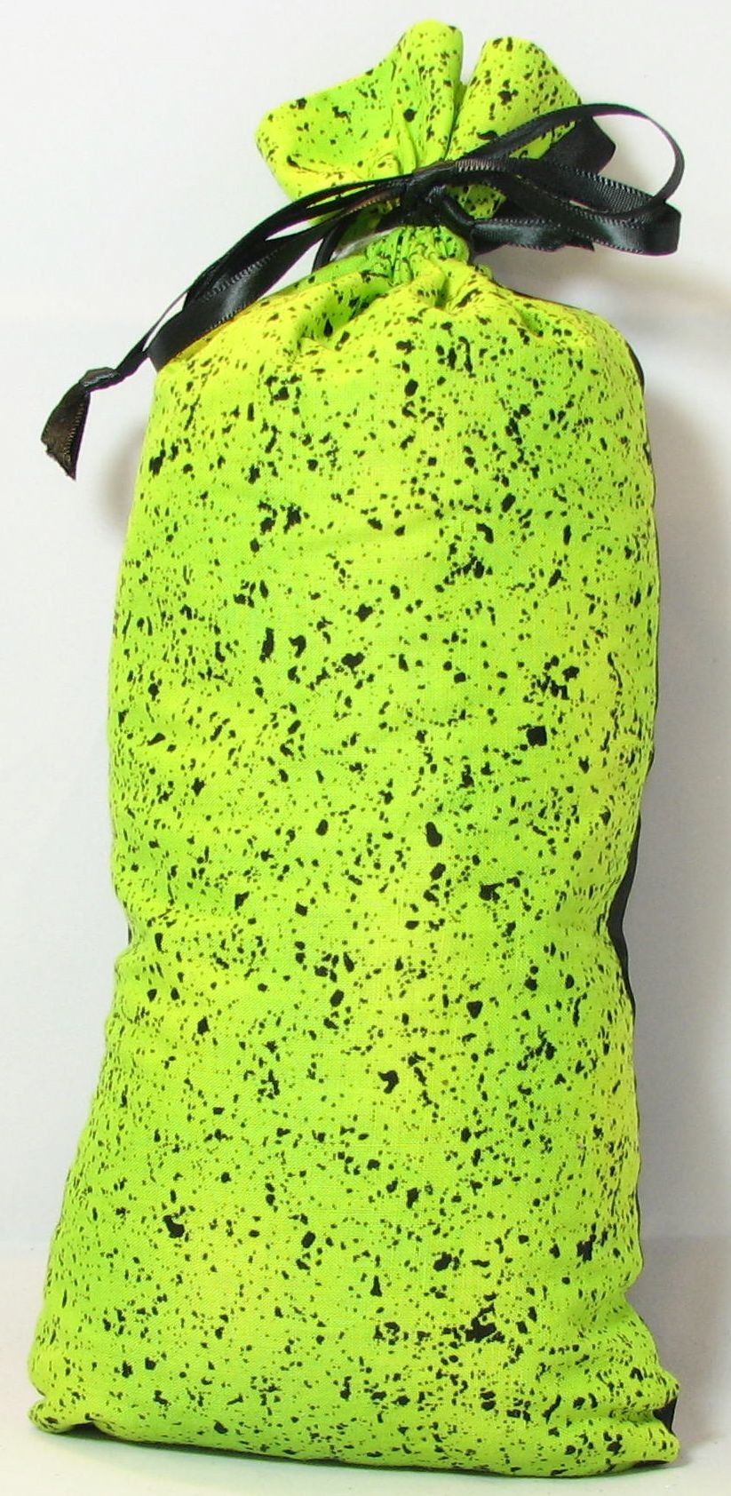 Black with Speckled Neon Green