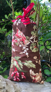 Brown Red Green Floral