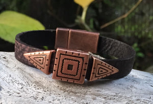 Leather Bracelet - Brown Southwest Flair