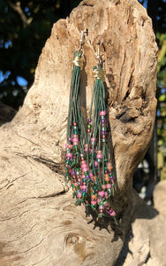 Cattail Earrings -Forest Flora