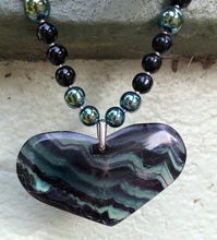 Load image into Gallery viewer, Mineral Necklace - Dark Fluorite Heart
