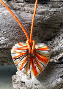 Fragile Heart - Orange Black Gold