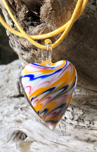 Fragile Heart - Yellow Blue and Pink