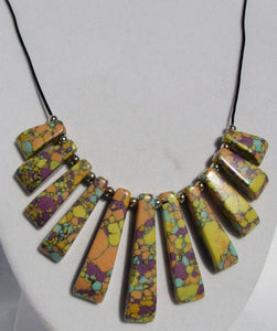 Mineral Necklace - Howlite Graduated Bib Style
