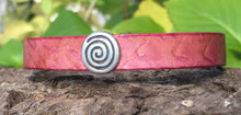 Load image into Gallery viewer, Leather Bracelet - Rose with Crystal clasp