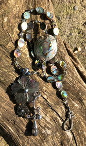 Mineral Necklace - Mother of Pearl and Abalone Shell