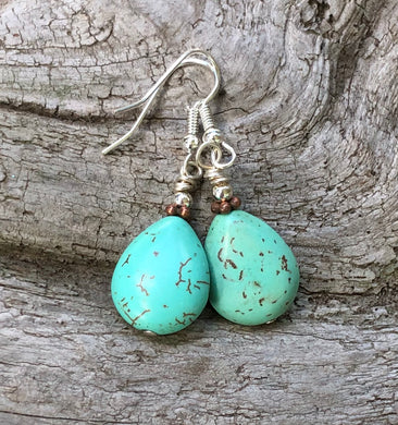 Magnesite Drop Earrings