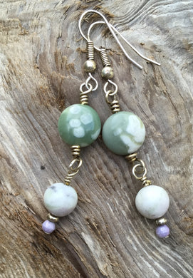 Peace Jasper Dangle Earrings
