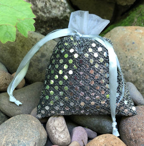 "Pewter with Silver Sequins 4"" x 5"""