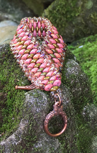 Snakeskin Bracelet - Pink Gold and Copper