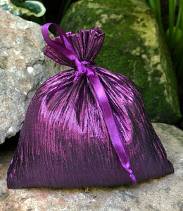 "Sachet Purple Crinkle Metallic 5""x7"""