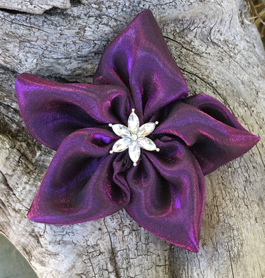 Fabric Flower - Silky Purple