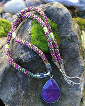 Load image into Gallery viewer, Kumihimo Necklace - Purple Vineyard