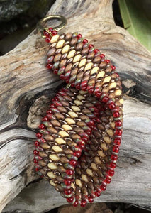 Snakeskin Bracelet - Red Ivory Brown