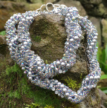 Load image into Gallery viewer, Beaded Necklace - Silver Gorgeous Vine