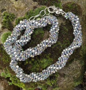 Beaded Necklace - Silver Gorgeous Vine