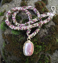 Load image into Gallery viewer, Kumihimo Necklace - Snowy Jasper
